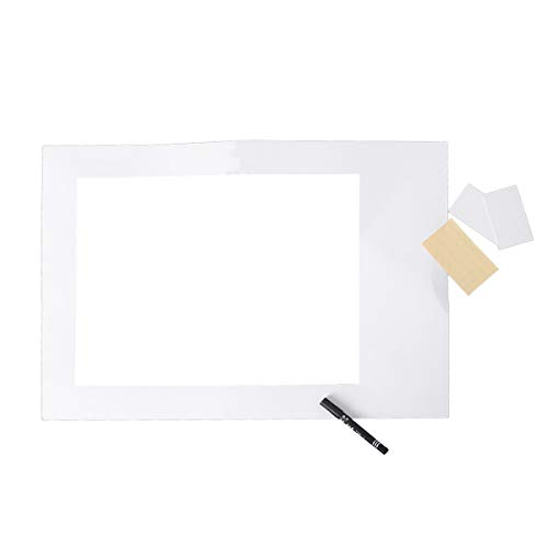 Amosfun Leere DIY Papier Photo Booth Selfie Bilderrahmen Requisiten Ausschnitte Papier Nachricht Bord für Abschluss Hochzeit Geburtstag Party Supplies mit Stift (Große Größe)