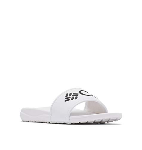 Columbia Women's Slide Sport Sandal, White/Black, 6