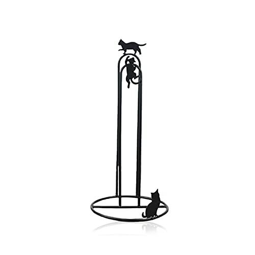 OMVOVSO Vintage Papel de Cocina Holder, Soporte del Rodillo Permanente de la antigüedad de la Cocina sin la perforación del Papel higiénico del Soporte del Rollo de Repuesto Soporte Rodillo,Negro