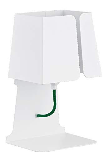 ALFA Faust Blanc 1 Lampe de Chevet Lampe à Poser Luminaire Lampe de Table lumière Interieur