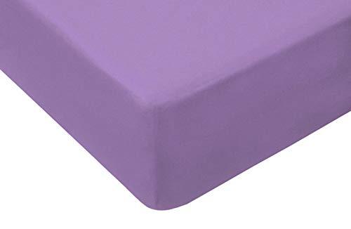 TM Maxx Jersey Spannbettlaken für Baby und Kinder mit Öko-Tex Standard (Flieder 040, 80x160) Spannbetttuch aus 100% Baumwolle