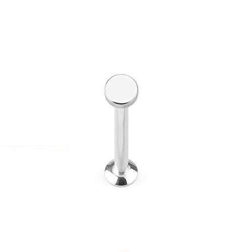 Paula & Fritz® UNIVERSAL Stud Labret Monroe Cartilage Flatball 3mm Gold roségold schwarz Silber Edelstahl Chirurgenstahl 316L LSI253-1608_ST