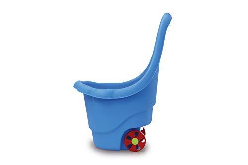Jamara 460425 - speelgoedtrolley Rolly Ron blauw - opbergen of vervoeren van speelgoed, 15 kg laadvermogen, stabiele kunststof, gemakkelijk te reinigen, met handgreep