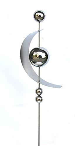 Unbekannt VARILANDO® Deko Garten-Stecker aus Edelstahl in 4 Varianten Garten-Dekoration Garten-Gestaltung (Variante III)