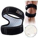 "Patella Knee Strap for Running,Knee Stabilizing Brace Support for Tendonitis,Osgood schlatter,Arthritis, Meniscus, Tear,Runners,Chondromalacia,Injury Recovery,Sports,12""-18"""