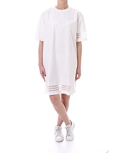 adidas tee Dress, white, 42 Womens
