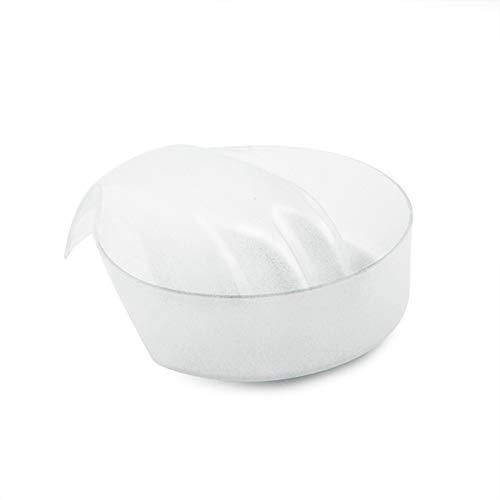 Rolabling 1Pcs Nail Art Soak Bowl Nail Polish Powder Removal Tray Nail Spa Salon Soaker Bowl Manicure Tools (White)