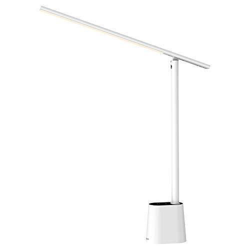 Baseus LED Schreibtischlampe, Auto-Dimming Tischlampe, 3 Farben und 4 Helligkeitsstufen Touch Control Tischlampe, Memory Funktion, Augenfreundliche Wiederaufladbare Lampe für Büro, Lesen, Nachttisch