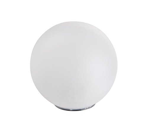 Dehner Solarkugel, Ø 40 cm, Echtglas-Optik, weiß