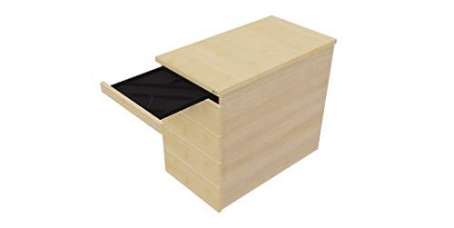 OKA Speed Rollcontainer mit 5 Schubladen, Abschließbar (Ahorn)