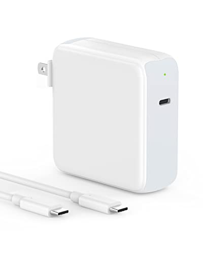 96W USB C Charger Power Adapter Compatible with MacBook Pro 16, 15, 13 inch, New Air 13 inch 2020/2019/2018, USBC Thunderbolt 3 Laptop Power Supply, Type C, 6.6ft 5A USB C to C Charging Cable