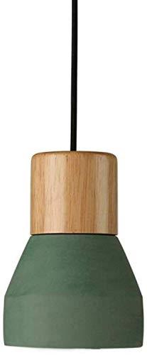 Creatieve beton-kandelaar, plafondlamp van hout, eenvoudige hanglamp van beton (kleur: rood)