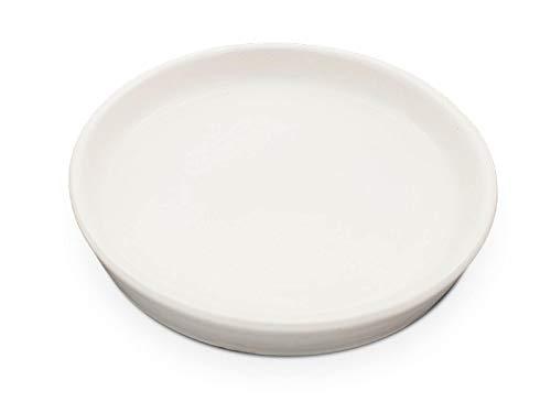 K&K Soucoupe ronde pour pot de fleurs Venus II avec ou sans anse 50 x 40 cm Blanc mat en grès (céramique de haute qualité)