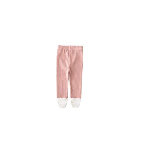 ZYCX123 Kleinkind weiche Strumpfhosen Baby-Gamaschen Baumwolle Leichtfüßig Stocking Winter Stricken warme Hosen für Neugeborene Kleinkinder 90cm Rosa Baby-Zubehör