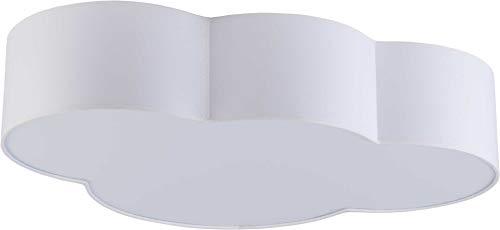 Deckenlampe Lampe Mädchen Jungen LED Deckenleuchte E27 Kinderzimmer Wolke fürs Baby 15 W rosa weiss blau Kinderlampe (Weiß 1533)