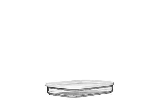 Mepal Cirqula kühlschrankdose modula aufschnitt 550/1, SAN/PE, Weiß, 22.4 x 16 x 3.7 cm