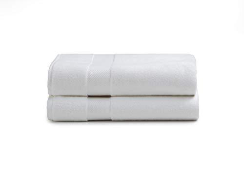 Charisma American Heritage 2 Pack White Bath Towel