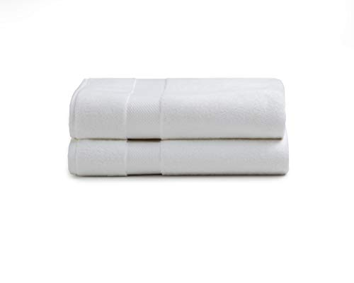 Charisma American Heritage 2 Pack White Bath Towel