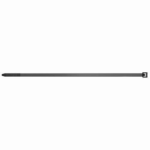 fischer Kabelbinder UBN, hochwertiges Kabelhalter-Set (100 Stk. 2,5 x 200 mm) aus Nylon-Polyamid, für Befestigungen von Kabeln und Rohren, halogen- & silikonfrei, schwarz