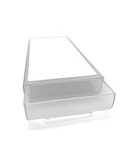 Minimal Design | Schreibtisch Organizer, selbstklebende Schublade, Aufbewahrungsbox, Make up Organizer, Schubladen Organizer, Stifte Aufbewahrung, Unterbau Schublade | Farbe: Transparent