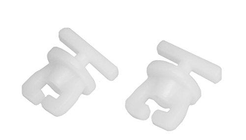iso-design Gardinenstopper/Gardinenfeststeller für Gardinenschienen und Innenlaufgardinenstangen, 2 er Set