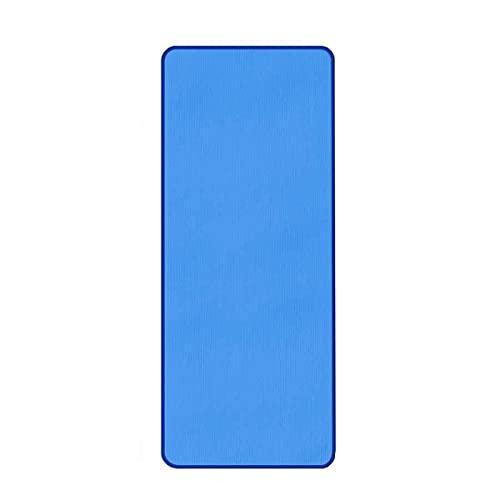 BANLV Colchoneta de Yoga Antideslizante de 10 mm 183 cm 61 cm colchoneta de Gimnasio Deportes Interior Fitness Pilates Mat Azul