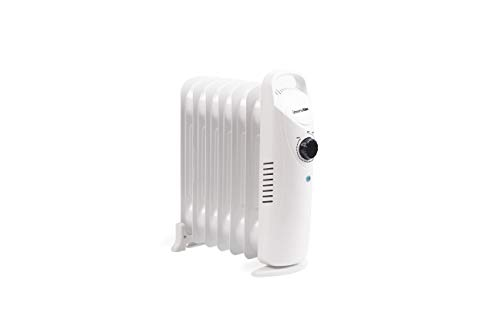 UNIVERSALBLUE - Radiador Mini - Potencia 600W - 7 Elementos calefactores - Termostato Ajustable