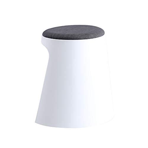 Taburete de bar SAP moderno creativo silla de bar respaldo para el hogar, silla alta, taburete giratorio para desayuno, taburete para restaurante y elevador duradero (color: blanco-a)