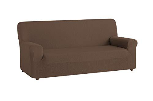 textil-home Funda de Sofá Elástica TEIDE, 3 plazas - Desde 180 a 240 cm. Color Marrón