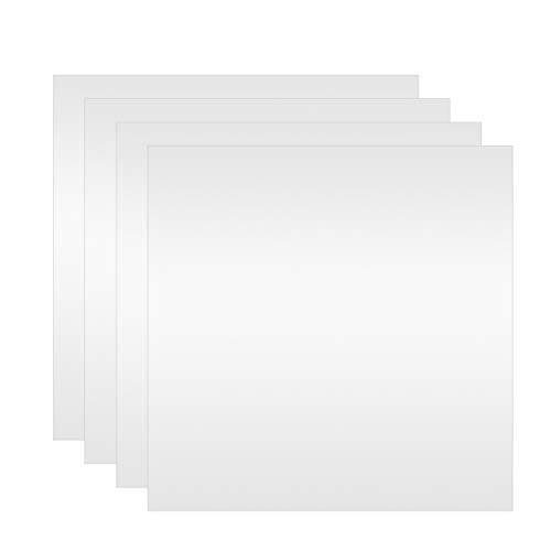 Milisten 32Pcs Fogli di Specchio Quadrati Fai da Te Adesivi per Specchio da Parete Specchio per Trucco Quadrato Specchio Autoadesivo Decorazione in Vinile per La Camera da Letto Del Bagno di Casa