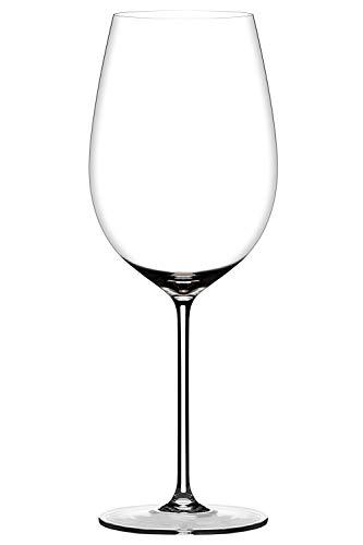 Copas de vino tinto de cristal, juego de 1 copas de color burdeos sopladas a mano