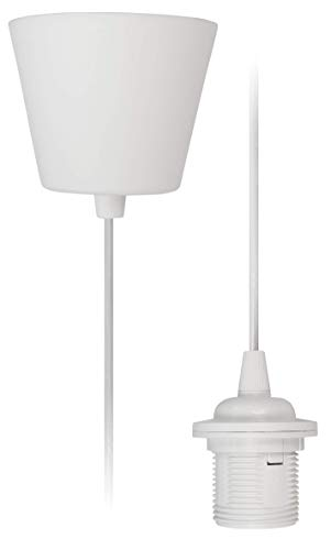 McShine - Lampenaufhängung Schnurpendel Fassung | E27 Fassung, 230V, 1,2m Kabel | ideal für Renovierung | frei wählbarer Lampenschirm (Standard)