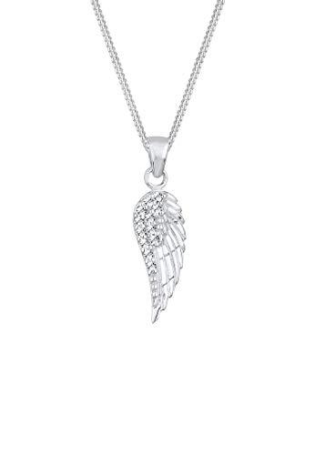 Elli Halskette Damen Flügel Anhänger mit Swarovski® Kristallen in 925 Sterling Silber