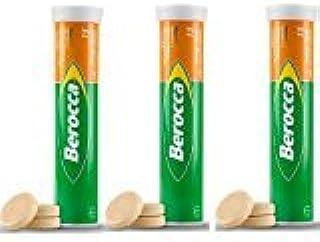 ビタミンサプリ Berocca (VitaminC,B群,葉酸,カルシウム,亜鉛,マグネシウム)15錠 X 3本