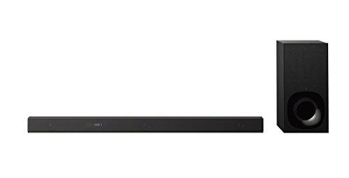 Sony HT-ZF9 3.1 Inch Dolby Atmos/DTS X Soundbar with Wireless Subwoofer, High-Resolution Audio, Wi-Fi, Works with Amazon Alexa - Black