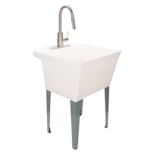 JS Jackson Supplies White Utility Sink Laundry Tub