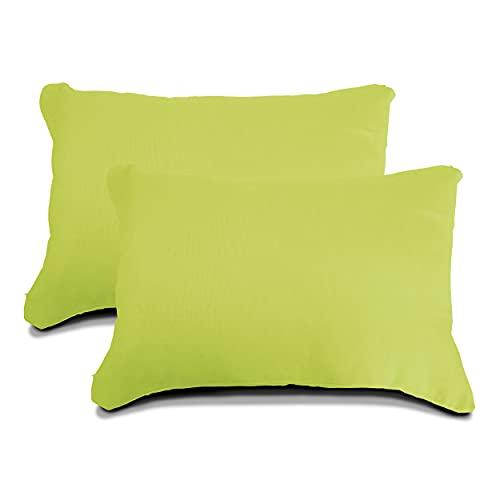 Meishida Juego De 2 Fundas De Super Loneta para Cojines de Sofá y Cama, con La Cremallera Oculta (Verde Pistacho, 40 x 60 cm)
