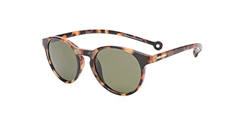 PARAFINA Isla Gafas de Sol para Mujer y Hombre, Protección UV400, Gafas Eco-Friendly Polarizadas, Resistentes al Agua y Ultra Ligeras, Montura Eco-friendly color Carey y Lentes Verdes