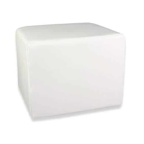 Fränkische Schlafmanufaktur Stufenlagerungswürfel, Bandscheibenwürfel, Lagerungswürfel, mit Soft-Kunstlederbezug, ca. 45x40x35 Farbe Weiß