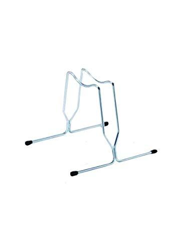 ANDRYS-Portabicicletas de suelo, 1 plaza fija, de acero galvanizado, color plateado