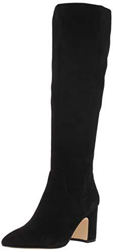 Sam Edelman Women's Hai Knee High Boot, Black Suede, 9 Medium US