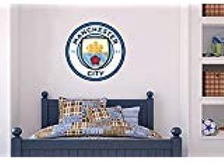 Official Manchester City Football Club - Badge + Bonus Wall Sticker Set Decal Vinyl Poster Print Mural (120cm Height)