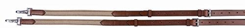 Henri de Rivel Side Reins - Leather with Elastic Insert