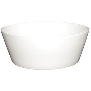 Olympia u163 Whiteware bord incliné Bol, blanc (Lot de 12)