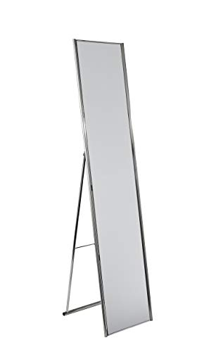 Adesso Alice Simple, Modern Full Length Mirror with Brushed Steel Folding Frame