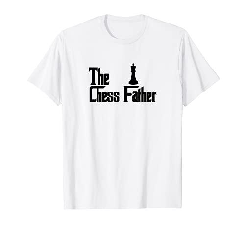 Hombre El padre del ajedrez - Jugador de ajedrez divertido papá Camiseta