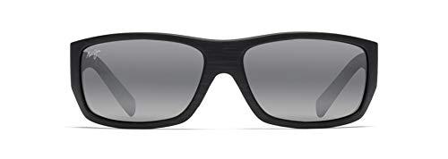 Maui Jim Wassup w/ Patented PolarizedPlus2 Lenses Polarized Bigradient Sunglasses, Matte Black Woodgrain/Neutral Grey Polarized, Medium