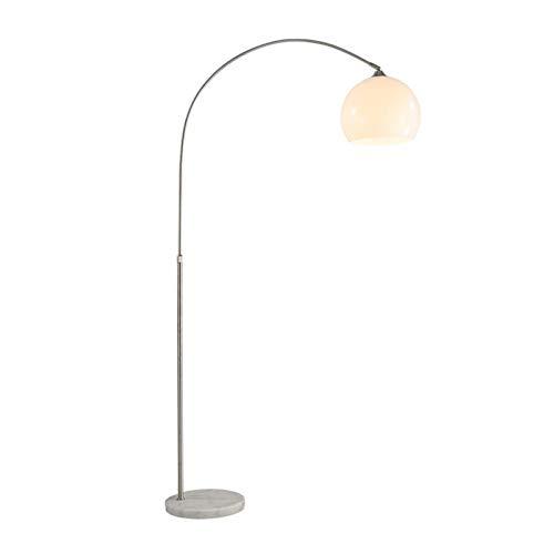 JSJJAJN Interior Creativa lámpara de pie Llevado salón Dormitorio Personalidad de Acero Inoxidable lámpara de pie Curvado Simple lámpara de Piso (Body Color : A, Color : White)