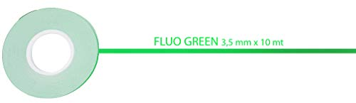 4R Quattroerre.it 10204 Stripes Adesive Verde Fluo 3,5 mm x 10 mt, 3.5 mm m