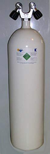 HTD Tauchflasche 12 Liter 230bar komplett Doppelventil 178mm konkave